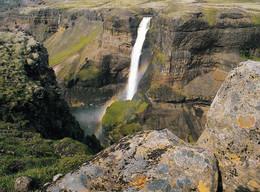 1 AK Island * Der Wasserfall Háifoss - Er Ist 122m Hoch Und Damit Der Dritthöchste Wasserfall Islands * - Islandia