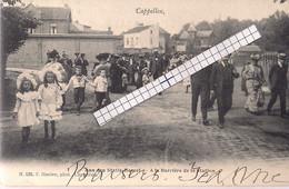 """CAPPELLEN-KAPELLEN """"AAN DE STATIE BAREEL-BURGERIJ-KINDEREN """" HOELEN N° 525 TYPE 3 UITGIFTE 1904 - Kapellen"""