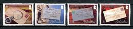 GIBRALTAR 2007 N° 1216/1219 ** Neufs MNH Superbes C 7.50 € La Poste Plis Cachets Timbres Sur Timbres Loupe - Gibraltar