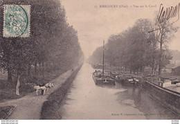 D60  RIBECOURT  Vue Sur Le Canal   ........  Avec Deux Péniches - Ribecourt Dreslincourt