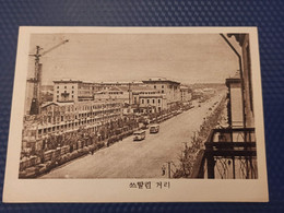 KOREA NORTH 1950s  Postcard - Pyongyang Capital - Stalin Street - Korea (Noord)