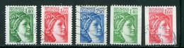 FRANCE-Y&T N°2154 à 2158- Oblitérés - Used Stamps