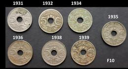 (F10) Pièces FRANCE - 5 CENTIMES 1931,1932,1934,1935,1936,1938, 1939 - Non Classificati