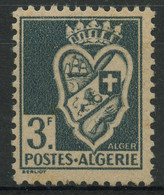 Algerie (1941) N 181 (Luxe) Gris Ardoise Au Lieu De Bleu (petites Traces De Rouille) - Sin Clasificación