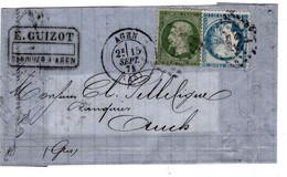 Céres 37 Et Empire 20  Sur Devant    GC 12 Agen (45) - 1849-1876: Période Classique