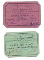 41 - ROMORANTIN - SAPEURS POMPIERS -  Carte D'identité De Mr Ménard Pompier Clairon 1908 Et Pompier Sapeur 2 Scans - Firemen