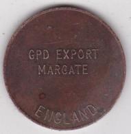 Jeton Token GPD EXPORT MARGATE ENGLAND, En Laiton - Monetary/Of Necessity