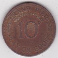 Jeton Token GRAND PIER 10 PENCE WESTON-S-MARE, En Laiton - Monetary/Of Necessity