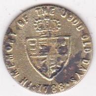 Jeton Token Demi Guinea 1788 George III, En Laiton - Royal/Of Nobility