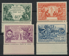 Cameroun (1931) N 149a 152a (charniere) Sans Cameroun Signe - Unused Stamps
