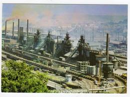 CPSM Hayange 57 Moselle Les Usines Industrie Sidérurgie Hauts Fourneaux Division Patural éditeur Poll Olland à Metz - Hayange