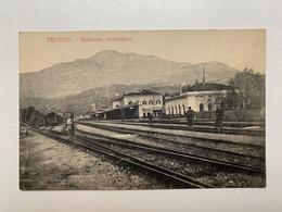 Italy 10457 Trentino Alto Adige Trento Stazione Ferroviaria Train Station Bahnhof Luigi Marsoner 1908 - Trento