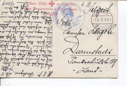 REF2789/ CP Trier Feldpost Roten Kreuz C.Bastogne 3/6/15 C.du Régiment > Darmstadt - Duits Leger