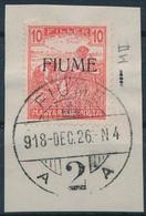 Fiume 1918 Arató 10f M II, Kivágáson. Certificate: Bodor (Sassone EUR 24.000,-) - Unclassified
