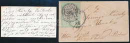 1874 április Kisalakú Helyi Levél 3kr Okmánybélyeg Postabélyegként Felhasználva, Névjegykártyára írt Tartalommal. Rendkí - Unclassified