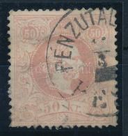 "O 1867 50kr ""PÉNZUTAL(VÁNY) PE(ST)"" (180.000) Pici Elvékonyodás és Alul Rövid Fog / Thin Paper And Short Perf. - Unclassified"