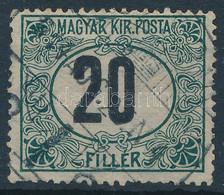 O 1914 Portó 20f álló Vízjellel, Az Egyik Legritkább Portóbélyeg (150.000). Certificate: Glatz - Unclassified