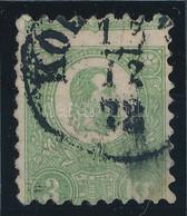 O 1871 Kőnyomat 3kr Látványosan Képbe Fogazva / Strongly Shifted Perforation (140.000) (jobb Alsó Részén Javított / Repa - Unclassified