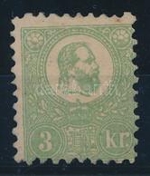 (*) 1871 Kőnyomat 3kr Jó Minőségű Bélyeg Tűhegynyi Elvékonyodással / Unused Stamp, Thin Paper Not Larger Than A Pin's He - Unclassified