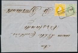 "1867 2kr + 3kr Levélen / On Cover ""ÉRSEKÚJVÁR"" - B. Gyarmath - Unclassified"