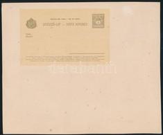1900 4f Díjjegyes Kétnyelvű Levelező Lap, Az Eredeti Nyomólemezről Valószínűleg A Világkiállítási Albumhoz Készült Nyoma - Unclassified