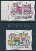 ** 1969 Dunakanyar ívszéli 40f, Látványos Tévnyomat: Hiányzó Kék és Sárga Színnyomatok. A Szakirodalomban és A Bélyegker - Unclassified