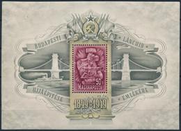 ** 1949 Lánchíd III. Blokk (90.000) (apró Ráncok / Small Creases) - Unclassified