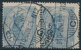 """O 1908 Turul 2K Pár """"a"""" Számvízjelállás (80.000) """"PÁPA"""" - Unclassified"""