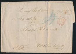 """1865 Túlsúlyos Ex Offo Levél Piros """"HERMANNSTADT RECOMAN."""" (Gudlin R!) - """"MAROS VÁSÁRHELY"""" - Unclassified"""
