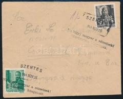 """1944 Nov. 26. Távolsági Levél 12f + 18f Bérmentesítéssel """"SZENTES"""" - Csongrád , Rendkívül Ritka Kiegészítő Bélyegzéssel  - Unclassified"""