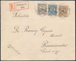 """1900 Ajánlott Levél 10kr + 12kr + Turul 1f Vegyes Bérmentesítéssel """"BUDAPEST"""" - """"RIMASZOMBAT"""" - Unclassified"""