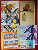 Butterflies Papillons Schmetterlinge Booklets Etc. Without Stamps - Schmetterlinge