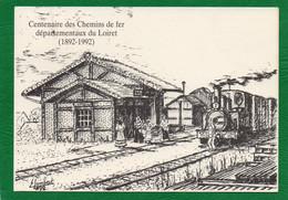 45 PITHIVIERS Centenaire Des Chemins De Fer Départementaux Du Loiret 1892-1992 Cachet Pithiviers Timbre N° 2755 - Pithiviers