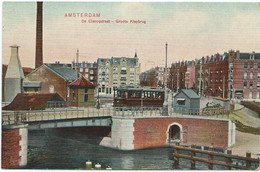 Amsterdam ESM NZH Blauwe Tram Amsterdam Sloterdijk Tramway Strassenbahn Trolley De Clercqstraat Klapbrug 1910-20 - Amsterdam