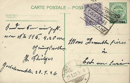 Luxembourg - Luxemburg - Carte Postale - Postkarte  1898 - Cachet Ambulant - Stamped Stationery