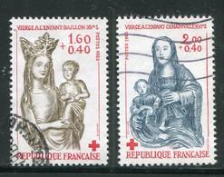 FRANCE-Y&T N°2295 Et 2296- Oblitérés (croix Rouge) - Used Stamps