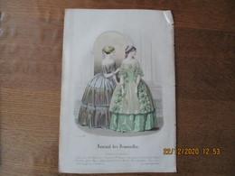 JOURNAL DES DEMOISELLES MODES DE PARIS 15 JANVIER 1848 BARREAU - Other