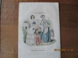 JOURNAL DES DEMOISELLES MODES DE PARIS 15 JUILLET 1848 BARREAU - Other