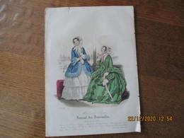 JOURNAL DES DEMOISELLES MODES DE PARIS 15 JUIN 1848 - Other