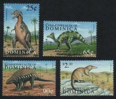 Dominica, 1999, Prehistoric Fauna, Dinosaurs 4 Stamps - Prehistorics