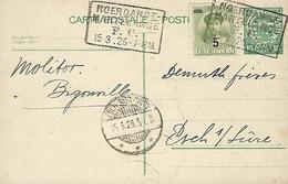 Luxembourg - Luxemburg - Carte Postale - Postkarte  1926 - Cachet  Noerdange-Martelange  -  2 Scans - Stamped Stationery