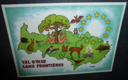 """Carte Postale - 5e Festival De La Carte Postale Et Du Graphisme """"Val D'Oise-Environnement"""" (Adam Et Eve) Ill. Vuitton - Werbepostkarten"""