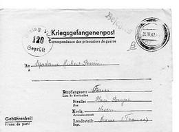 F 3 1942 LETTRE Prisonnier En Guerre Français En Allemagne Stalag VI A - WW II