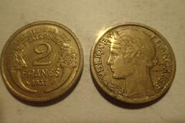 France, Morlon, 2 Francs, 1937, Aluminum-Bronze - B. 2 Centimes