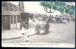 Cpa Du 33 Arcachon -- Café De La Plage T Boulevard De A Plage   DEC19-52 - Arcachon