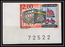 France N°2545 Musee Du Bateau Douarnenez Non Dentelé ** MNH (Imperforate) Coin De Feuille - Non Dentellati