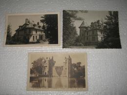 --DER2 --    3 Cartes Ploermel Don  Chateau De Saint Malo  Marquée Au Dos ? - Ploërmel