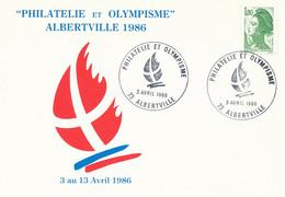 Savoie Mont Blanc - Albertville  Olympique 1992 -  Enjeu Olympique - Flamme Candidature Philatélie - Juegos Olímpicos