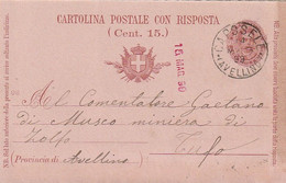 A37. Caposele. 1899. Annullo Grande Cerchio CAPOSELE (AVELLINO), Su Cartolina Postale - Marcofilía