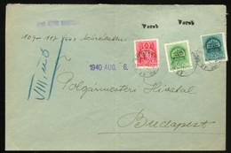 VEREB 1940. Levél M.Kir.Posta 27 + Kisegítő Bélyegzéssel Budapestre - Brieven En Documenten